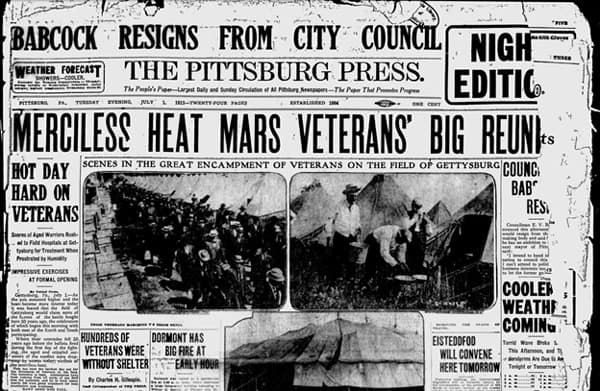 July 1 1913 front page of Pittsburgh Press
