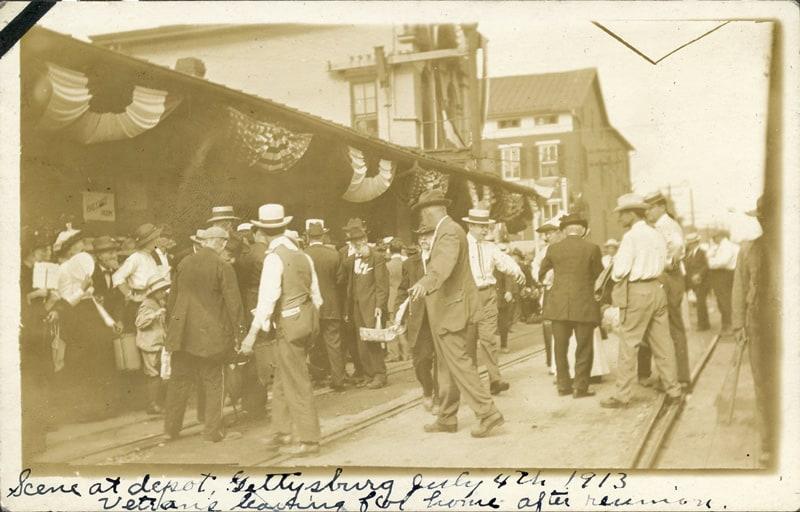 Photograh of depot at 1913 Gettysburg Reunion