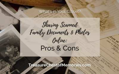 Sharing Scanned Family Documents and Photos Online: Pros and Cons