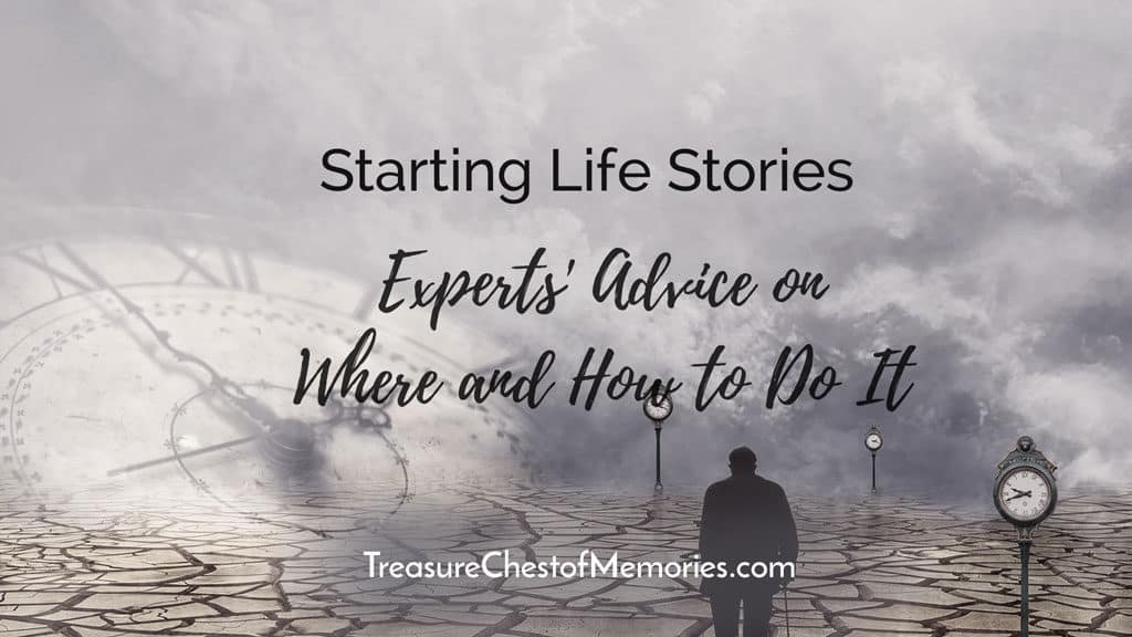 Starting Life Stories Expert's advice Headline Graphic with clock and old man
