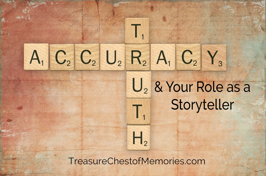 Truth and Accuracy Graphic with Scrabble Tiles