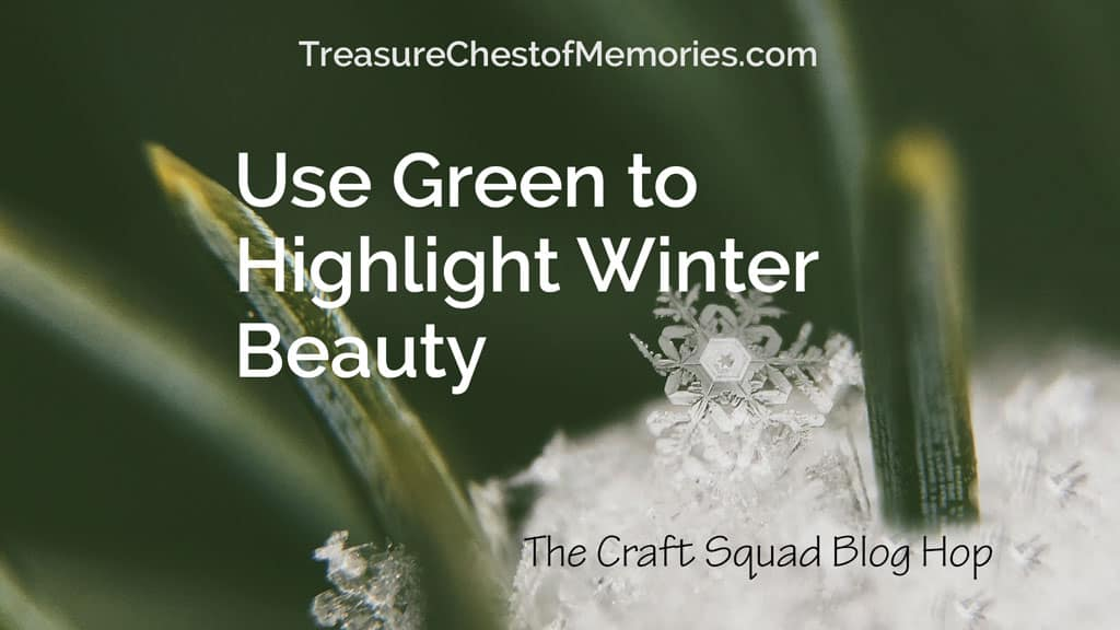 Use Green to Highlight Winter Beautyt