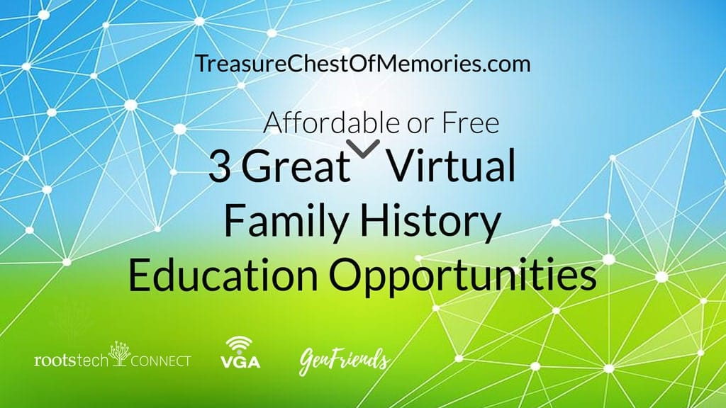 Great Virtual Family History Opportunities Header Graphic
