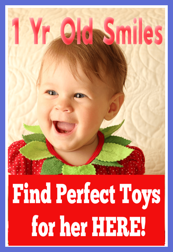 One Year Old Smiles Find Best Toys for Her Here
