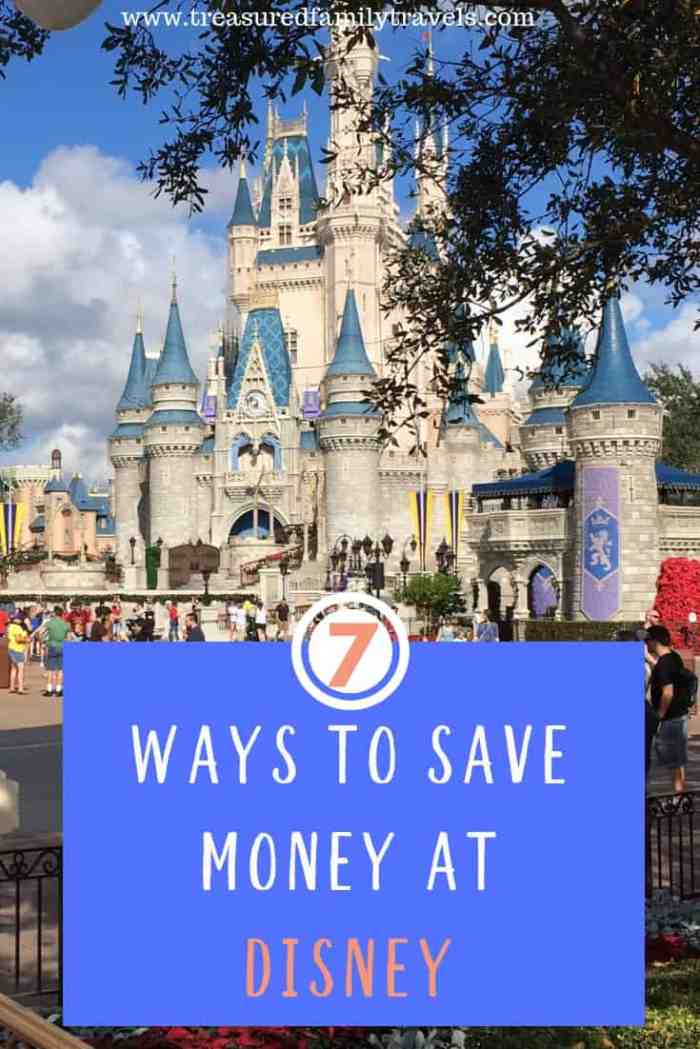 Who doesn't like to save money at Disney? Follow these 7 money-saving tips and have a blast without worrying about your wallet.
