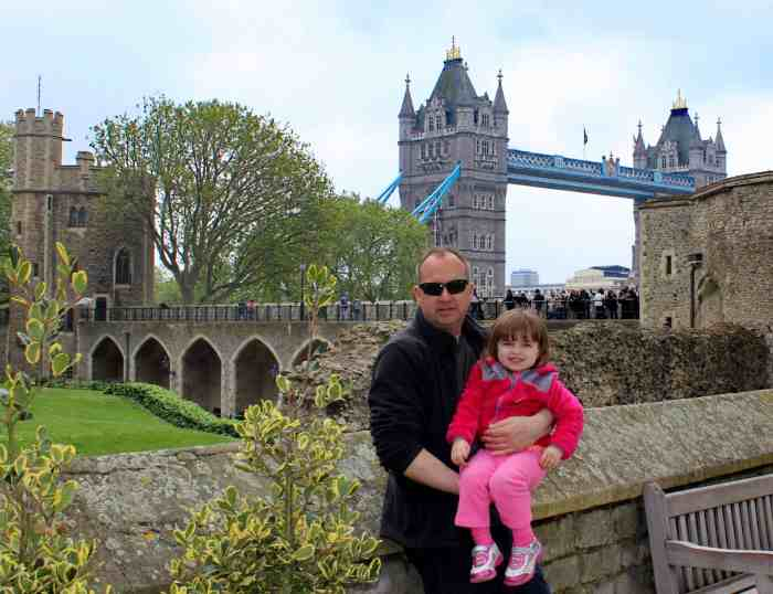 Best things to do in London with kids - in front of the Tower Bridge