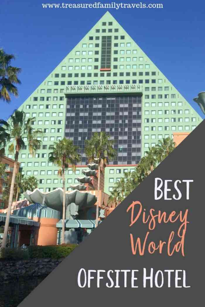 Deciding to stay onsite or offsite at Disney World? Read why the Disney Swan and Dolphin may be the best offsite Disney World hotel and a great compromise.