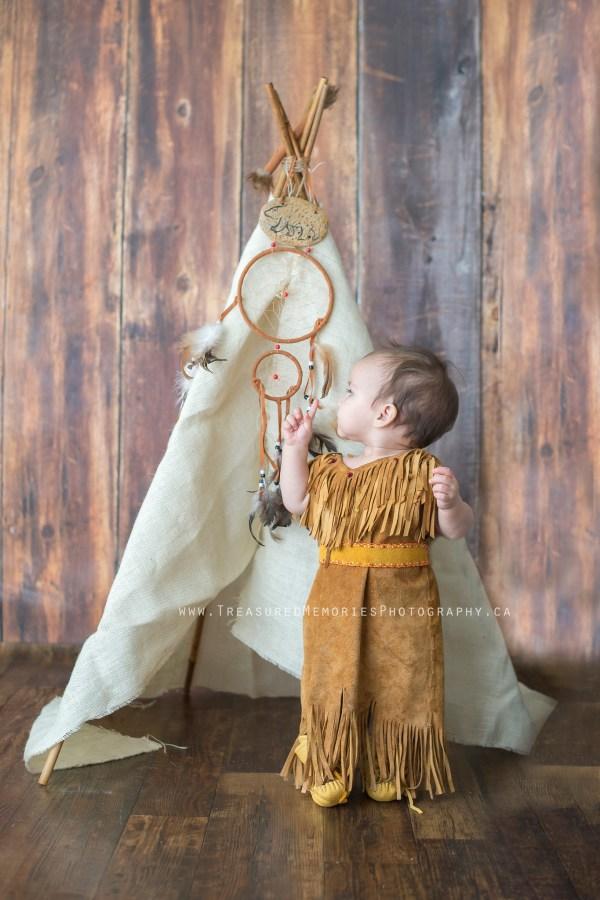 Native Girl Tepee Photo Session