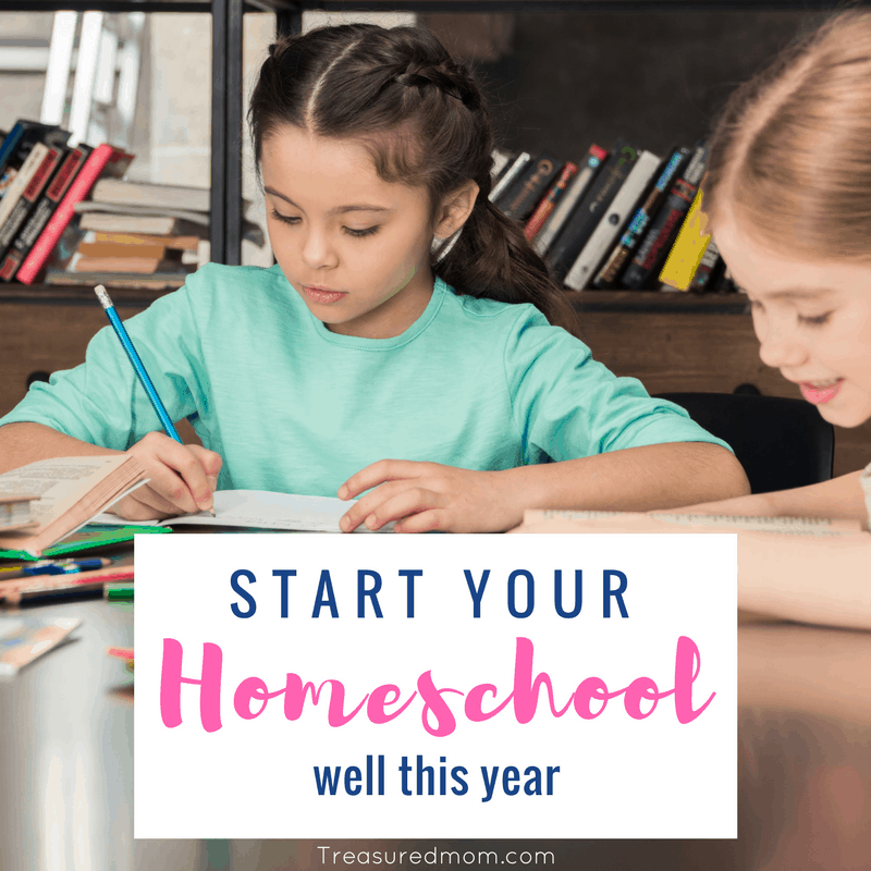 A new homeschool year can be quite exciting. Sometimes, it's hard to begin a new homeschool year, but here are some great tips for starting your homeschool year well.