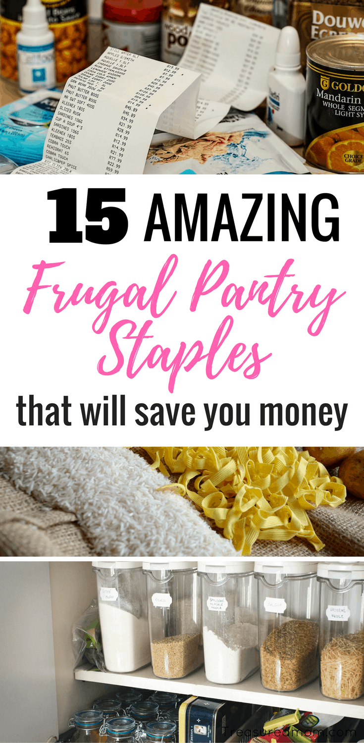 Staying stocked up with Frugal Pantry Staples will help you save money and save time.