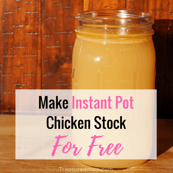You will be so amazed how easy it is to make Instant Pot Chicken Stock. And, who can beat the price of FREE?