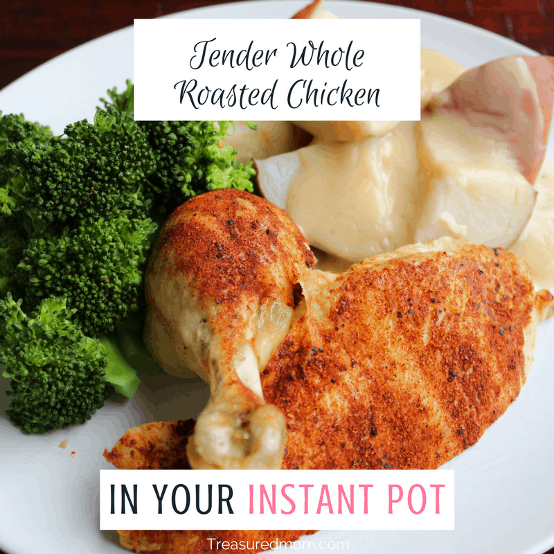 You can make a delicious tender Whole Roasted Chicken in your Instant Pot. Read here to find out how. Bonus gluten-free gravy recipe.