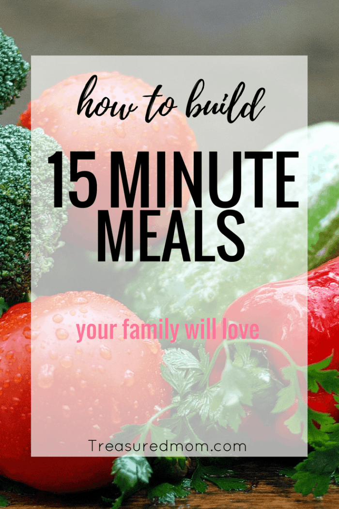This 15-Minute Meal planner is brilliant. You can learn to build your own quick meals when you know the building blocks to making fast food. Free download