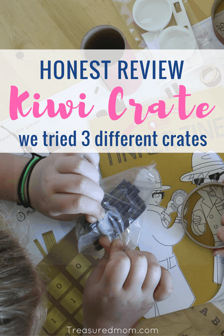 Honest Review for Kiwi Crate Subscription Boxes for Kids. These are great DIY Craft Activities for Kids. Fun STEAM projects for families and kids of all ages. Kiwi Crate, Doodle Crate, and Tinker Crate. #kidsactivities #kidsart #STEAM #treasuredmomblog #kiwicrate