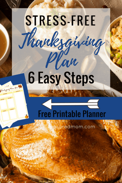 Are you hosting Thanksgiving? Check out these amazing 6 Steps To A Stress-Free Thanksgiving Plan. Thanksgiving doesn't have to be hard. Get a Free Thanksgiving Planner. Thanksgiving Printable Planner.