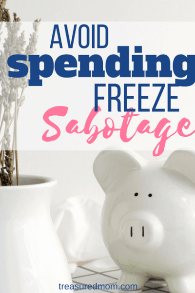 These 5 spending freeze tips will help you face your next challenge. So many things will come up to sabotage you, but you can be successful! The ideas here will help you save tons of money this month, week, or weekend. Free Printable Plan.