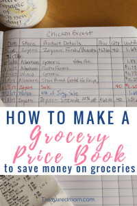 Get the details for How to Make a Grocery Price Book here. It's a great template to save money on groceries. Get the Free Printable Price Book.