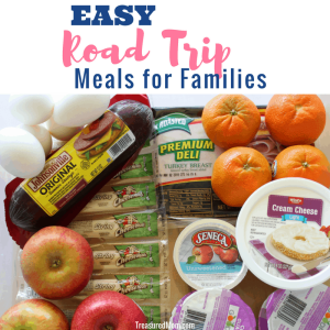 Easy Road Trip Meals for Families, cheese, salami, fruit, eggs