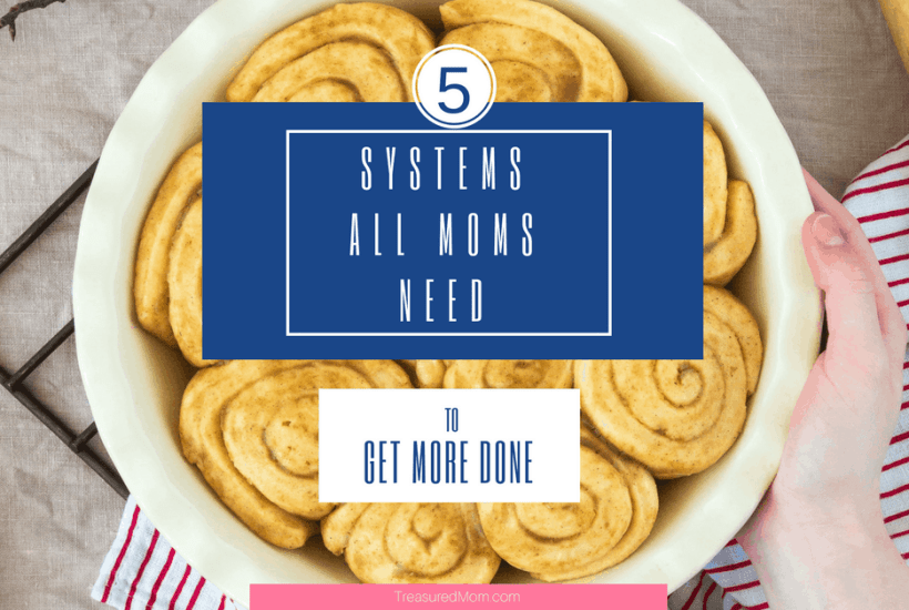 5 Home Management Systems book cover with cinnamon rolls