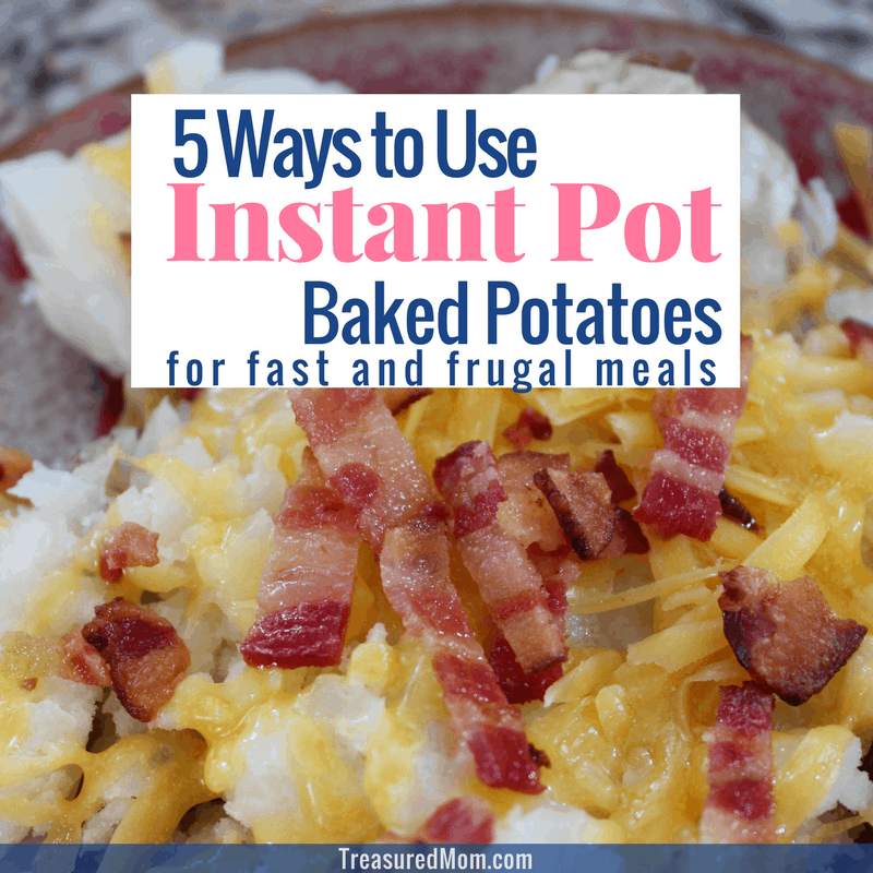 Instant Pot Baked Potatoes with cheese and bacon