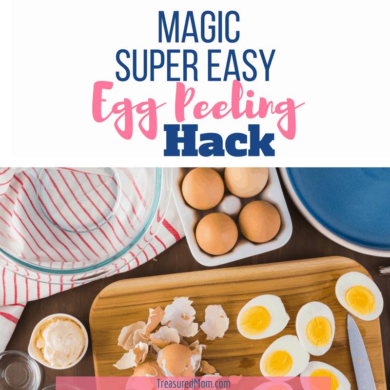 Super easy egg peeling hack hard boiled eggs , cutting board, eggshells