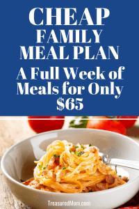 Italian Sausage Spaghetti for Cheap Family Meal Plan