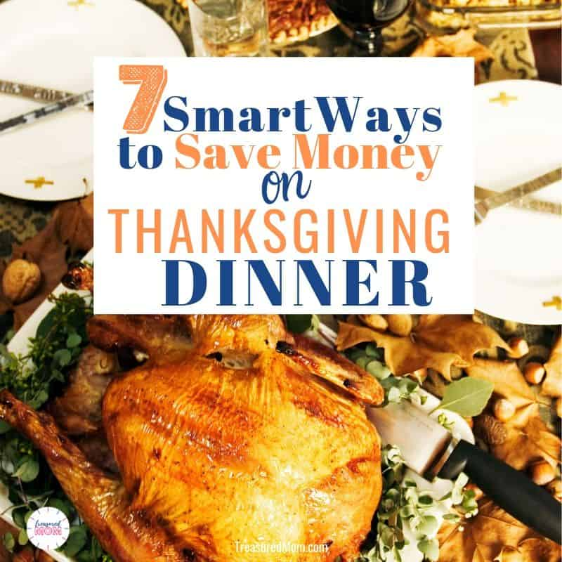 Dinner plate with stuffing, turkey, cranberries for budget-friendly thanksgiving dinner post