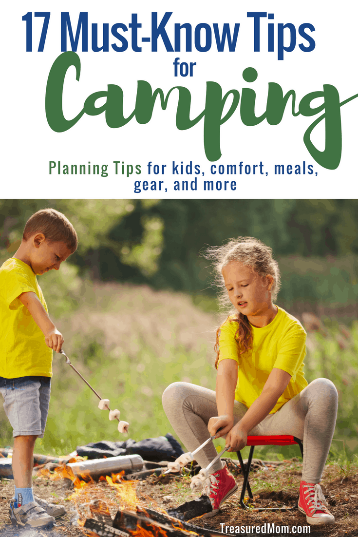 I'm so glad I read these tips for Planning a Great Camping Trip.  There are so many good ideas here.  There are categories for food, kids, and camping gear.  There's even a Free Camping Essentials Checklist and Menu Planner to download.