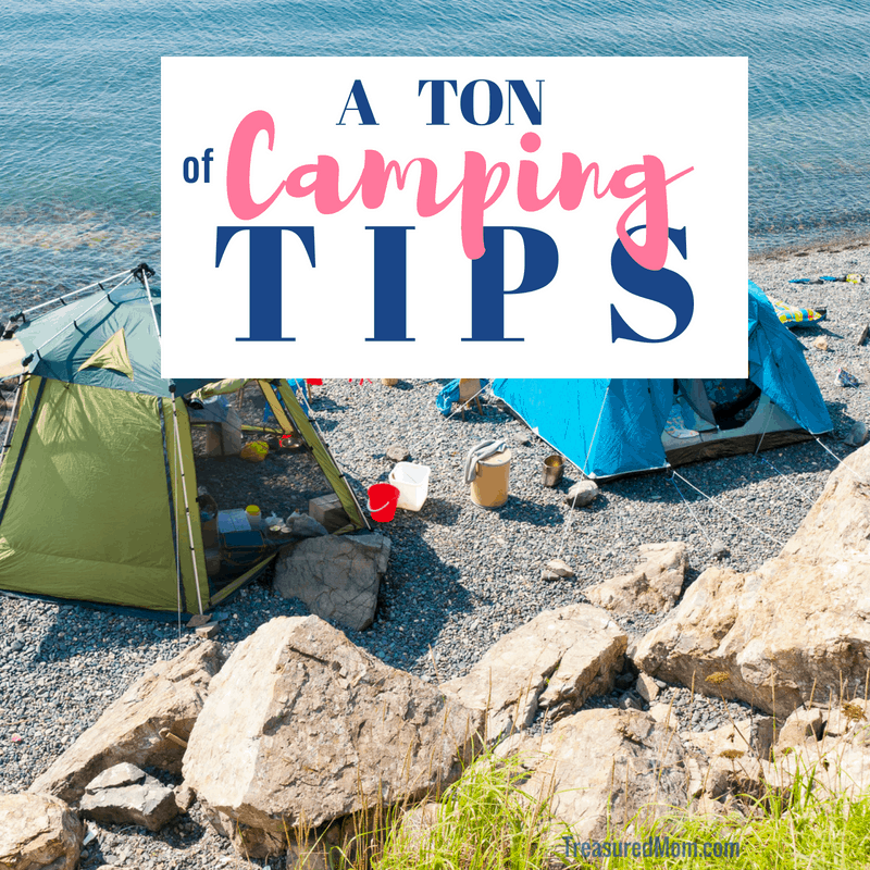 Tents and gear by a lake for Camping Tips and Ideas