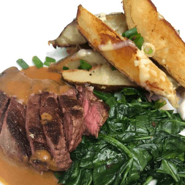 Gobble Dinner Kit delivery meal - steak, potato wedges