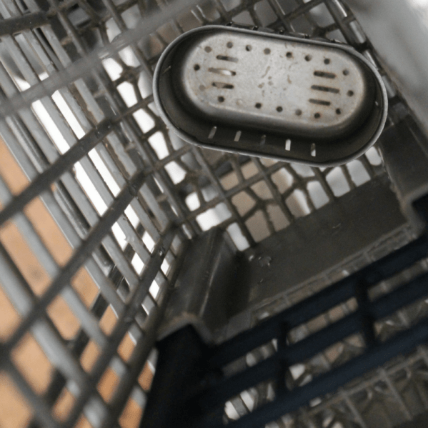 Instant pot part in dishwasher basket for Surprising Things you can Clean in your Dishwasher post