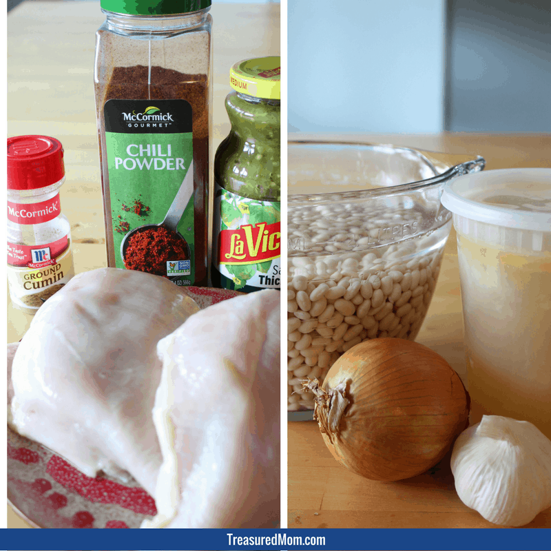 Quick and Easy Instant Pot Green Chicken Chili Ingredients