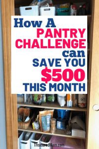 pantry for no spend pantry challenge week 1