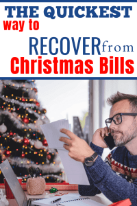 Man worried about Christmas bills for pay off debt quickly post
