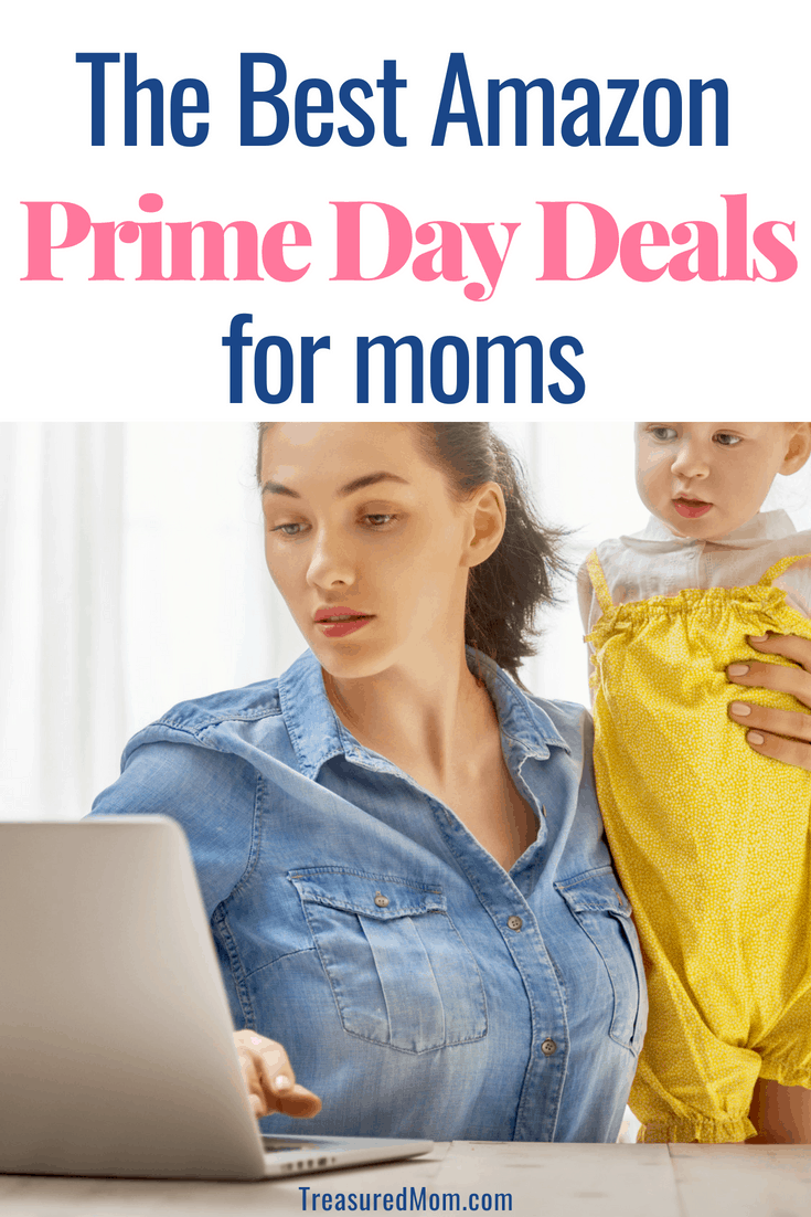 Find the best Amazon Prime Day Deals for Moms.  When you like to shop online from home, you want to find a great deal.  Amazon's Prime Day is like Christmas in July.  You'll love what you can find here. #amazonprimeday #amazonprime #amazonshopping #shoppingonline #treasuredmom #savingmoney