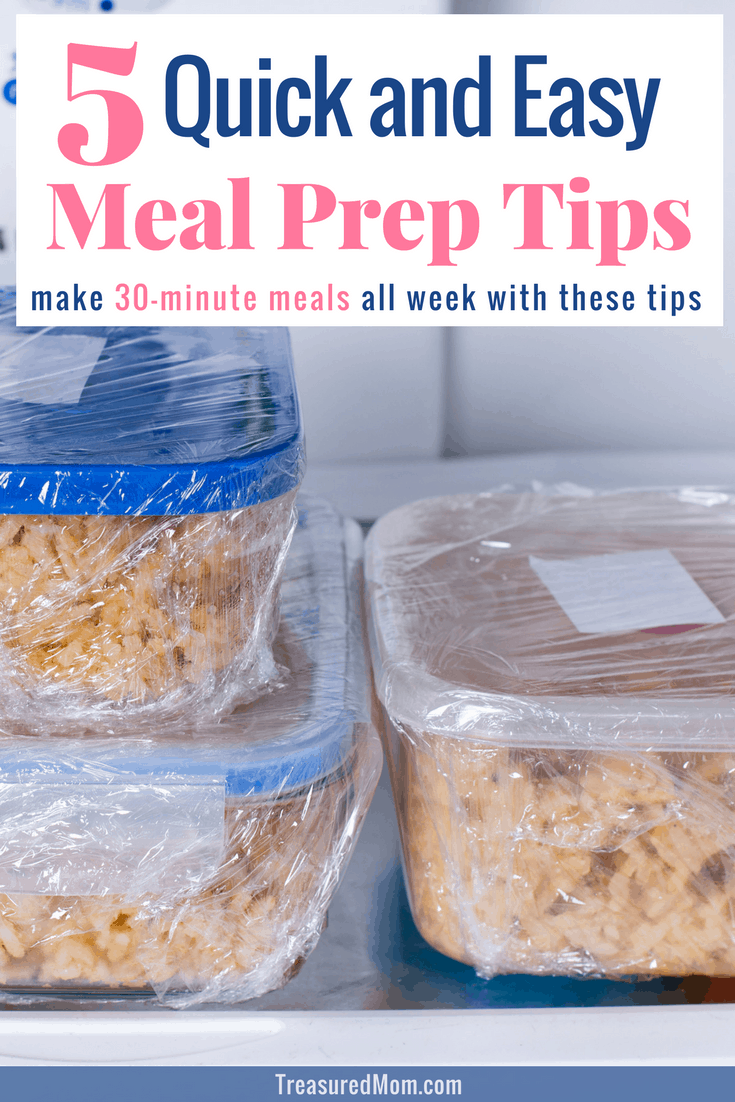 Save tons of time with these fast and easy meal prep ideas. Whether you prep for the week or just a weeknight, you will love these tips. They'll save you money and they work for beginners. Learn to make 30-minute meals every night.
