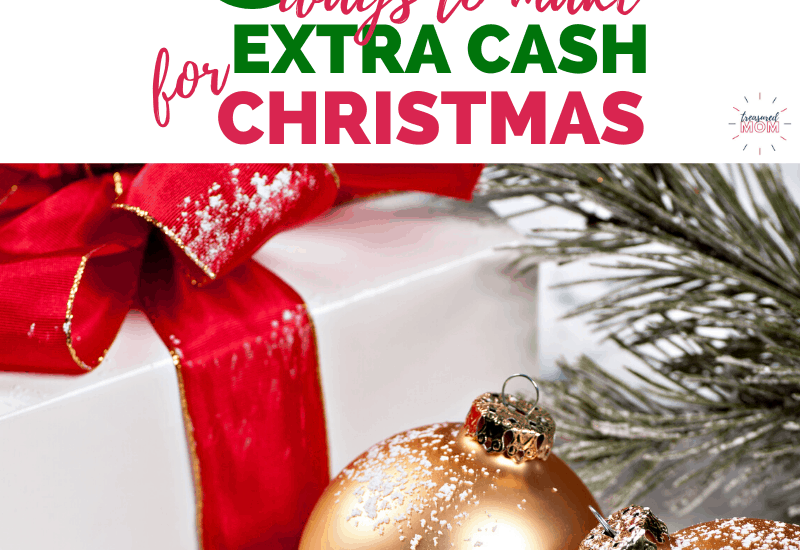 christmas package and ornaments for ways to make $1000 extra cash for Christmas