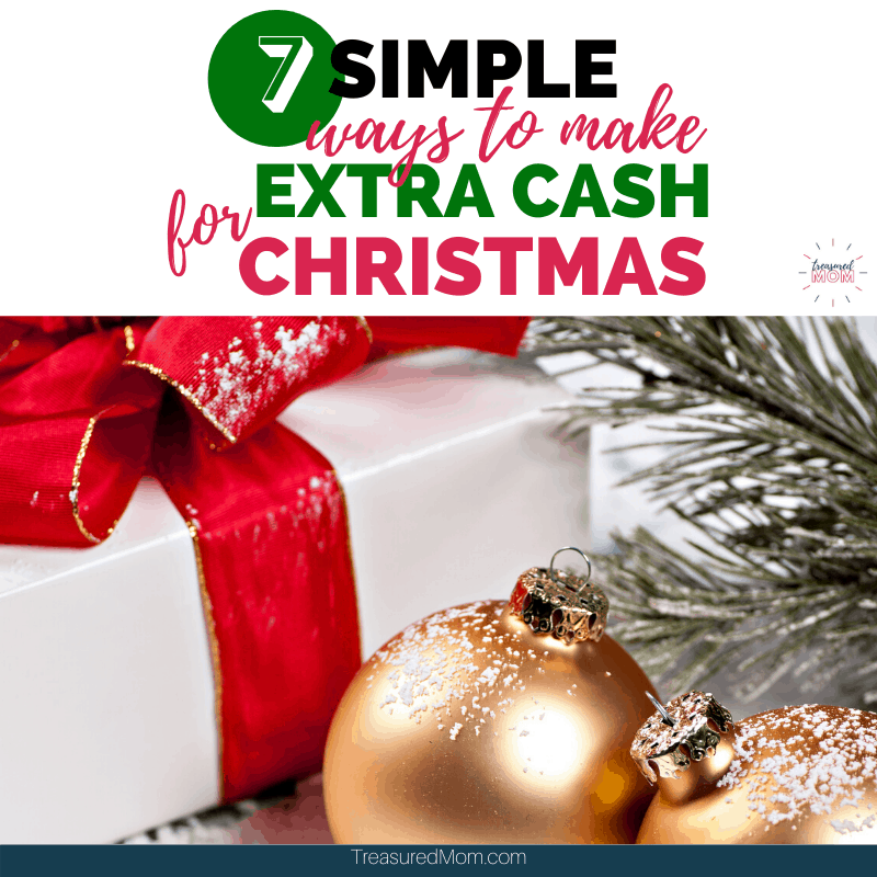 christmas package and ornaments for ways to make extra cash for Christmas