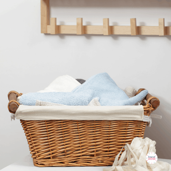 laundry basket with laundry for Over 100 Ways to Save Money