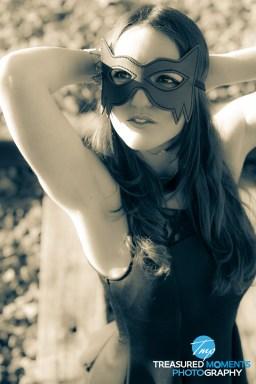 Catwoman on the tracks (Model: Tina Linda)