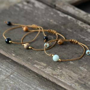 Three Beads Boho Bracelet Stacks
