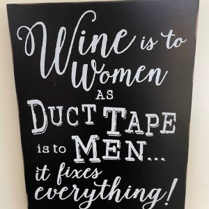Wine is to Woman Sign