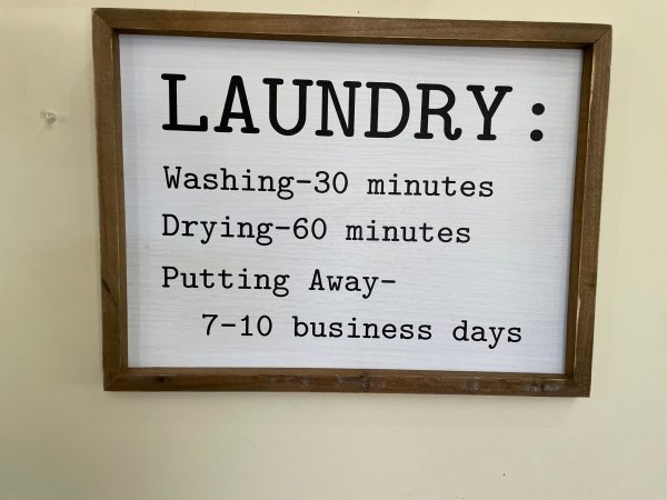 White Laundry Sign