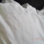 vintage weißes Kissen mit Stickerei