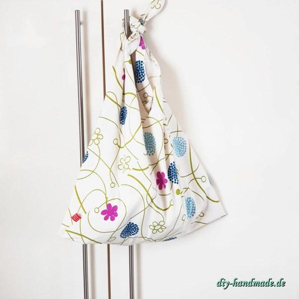 Stoffbeutel, Origami Bento Bag, Dreieckstasche, Japantasche,