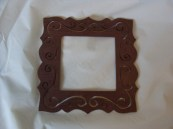 Chocolate Brown Small Frame hand painted
