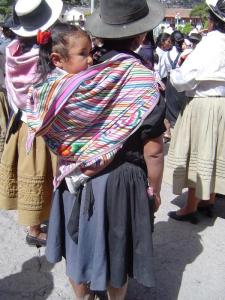 The Shoulder Sack is the best way to carry children in Peru!