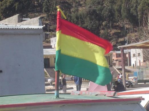 The Bolivian Flag.