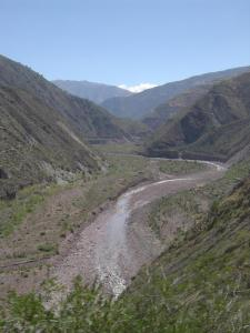 The Mantaro River runs through the valley along the road from Ayacucho to Huancayo!