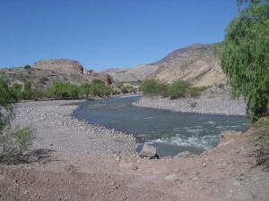 The Mantaro River runs along the road from Ayacucho to Huancayo!